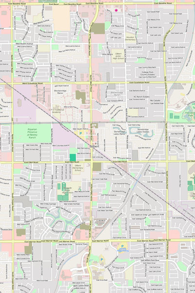 Detailed Editable Vector Map of  Gilbert