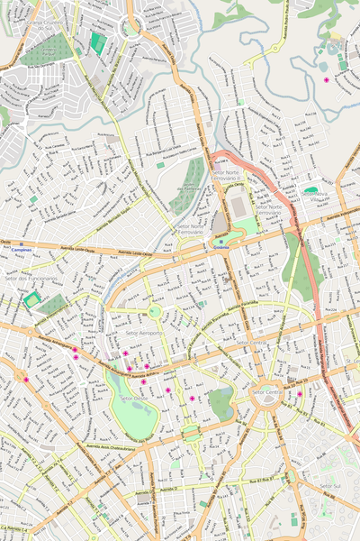 Editable Vector City Map Illustrator