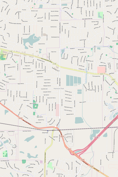 Detailed Editable Vector Map of  Hanover Park