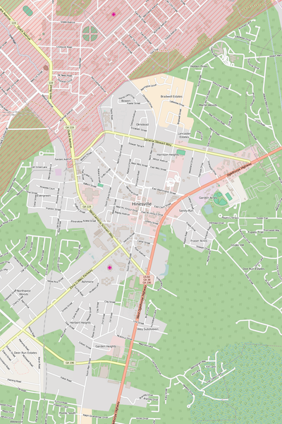 Detailed Editable Vector Map of  Hinesville