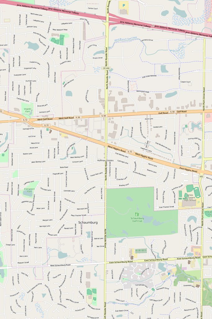 Detailed Editable Vector Map of Hoffman Estates Map Illustrators