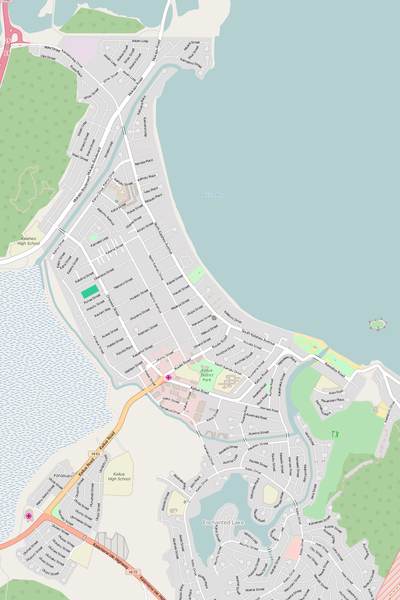 Detailed Editable Vector Map of  Kailua