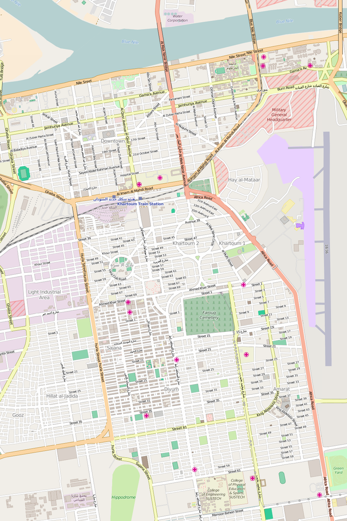 Editable City Map of Khartoum Map Illustrators