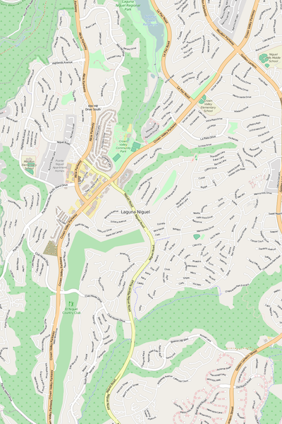 Detailed Editable Vector Map of  Laguna Niguel