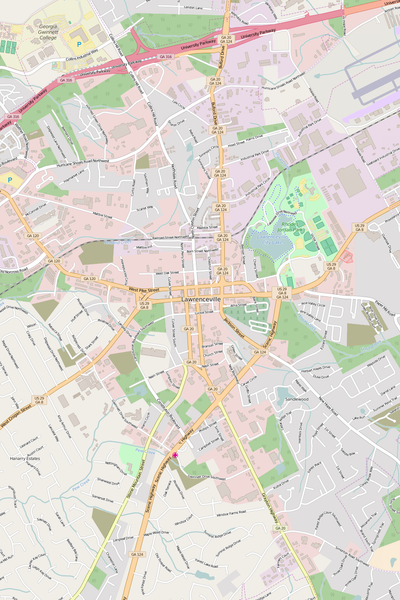 Detailed Editable Vector Map of  Lawrenceville