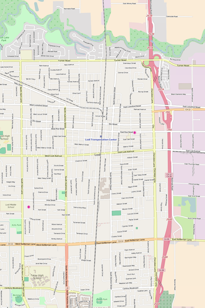 Detailed Editable Vector Map of  Lodi