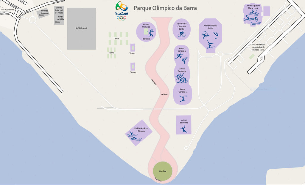 Editable Vector Map Barra Olympic Park