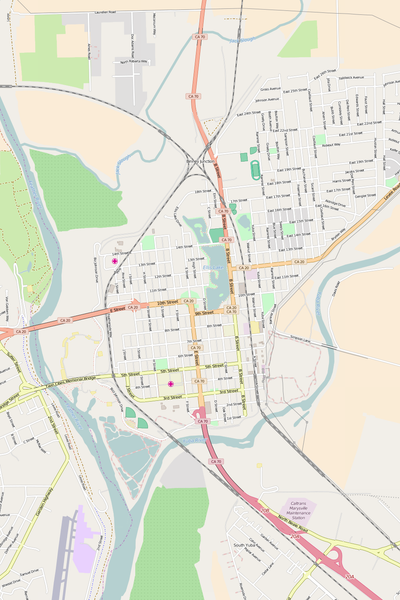 Detailed Editable Vector Map of  Marysville
