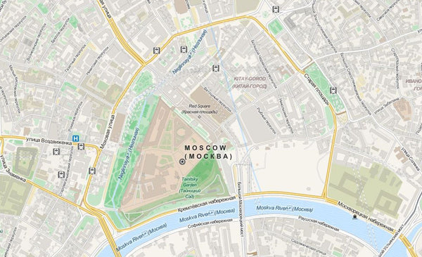 Moscow Editable Illustrator Map