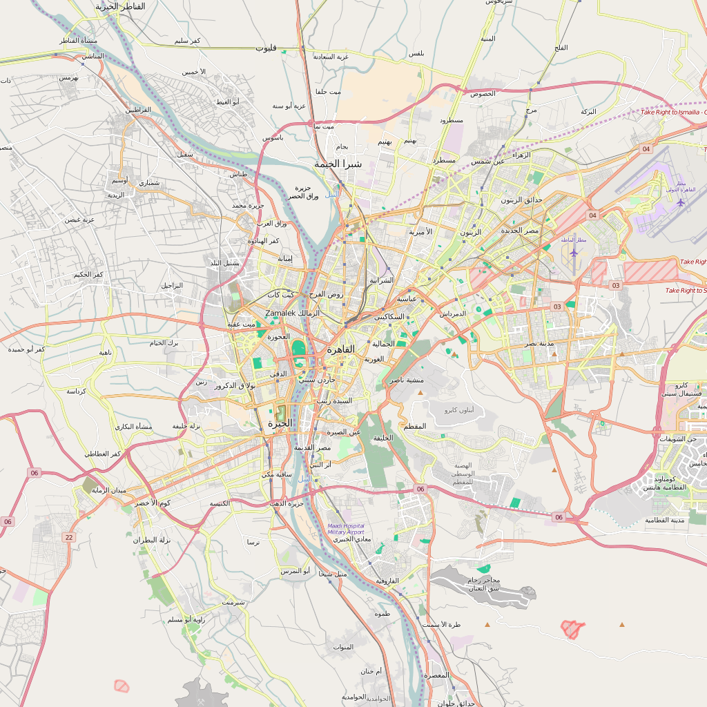 Editable City Map of Cairo