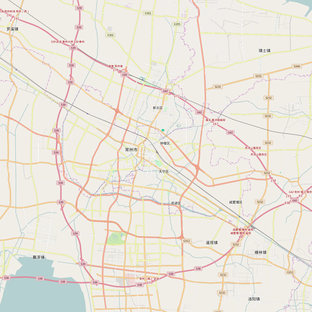 Editable City Map of Changzhou