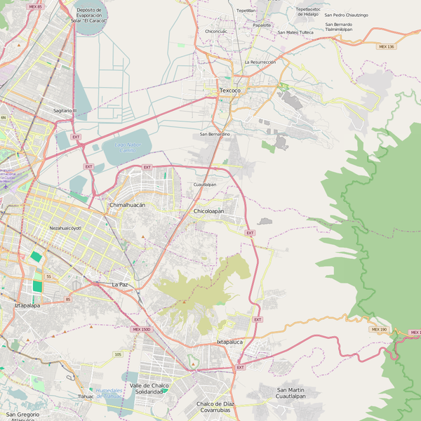 Editable City Map of Chimalhuacan