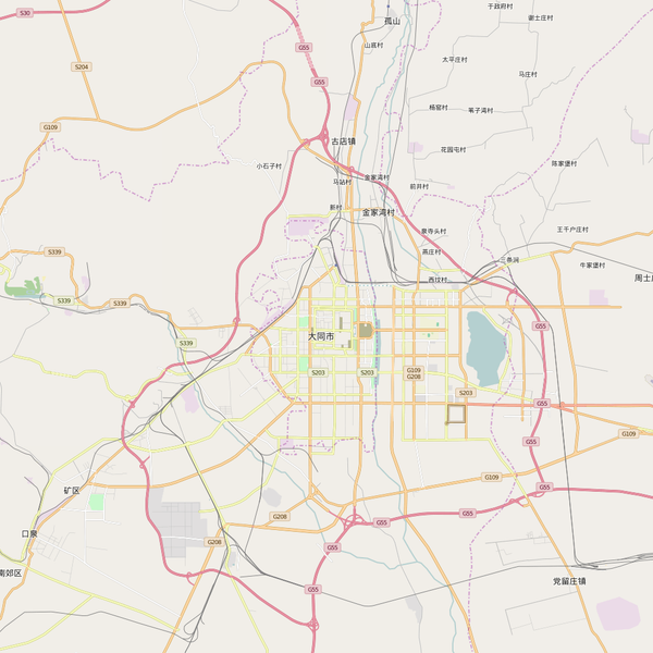 Editable City Map of Datong