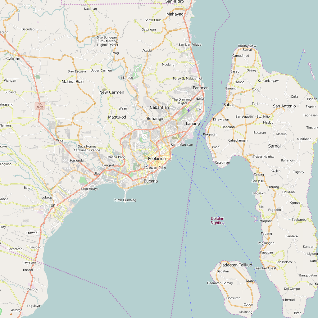 Editable City Map of Davao