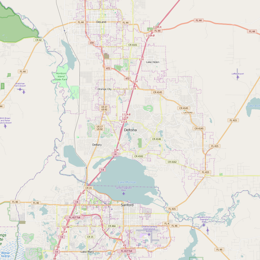 Editable City Map of Deltona, FL