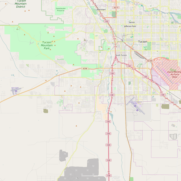 Editable City Map of Drexel Heights, AZ