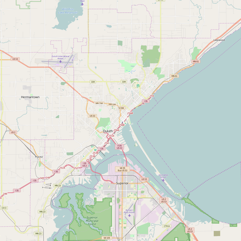 Detailed Editable Vector Map of Duluth – Map Illustrators on