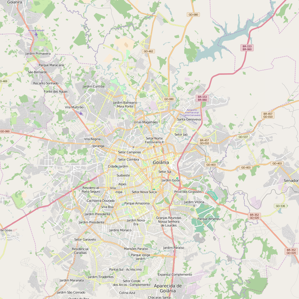 Editable City Map of Goiania