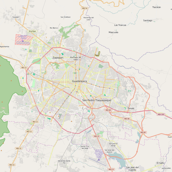 Editable City Map of Guadalajara