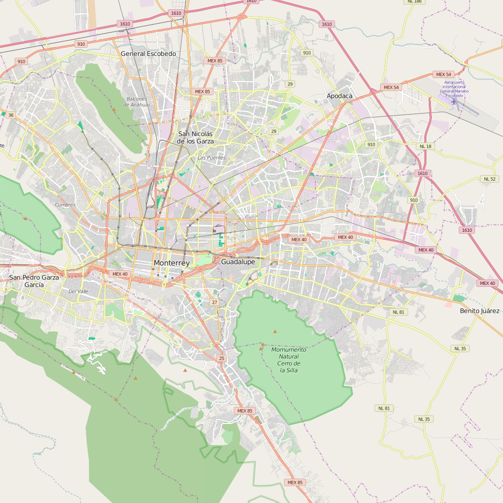 Editable City Map of Guadalupe