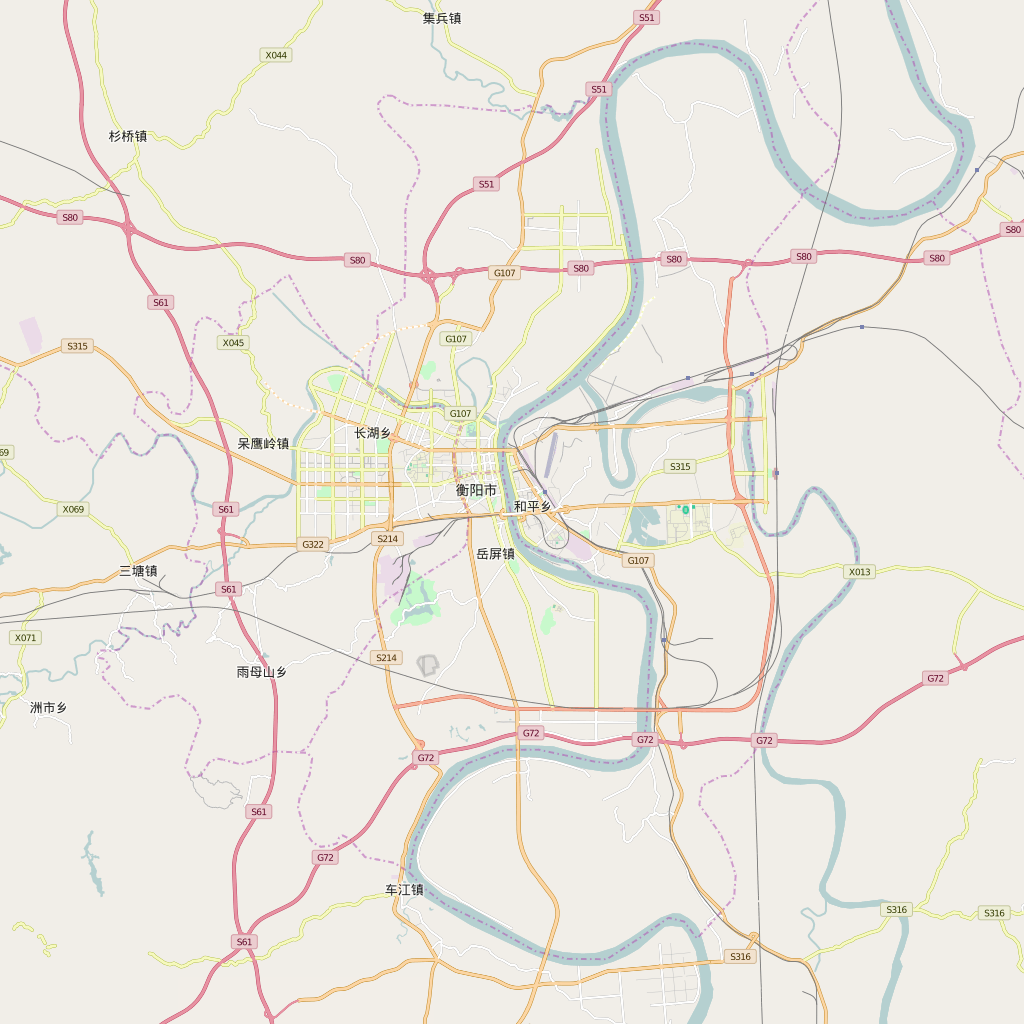Editable City Map of Hengyang
