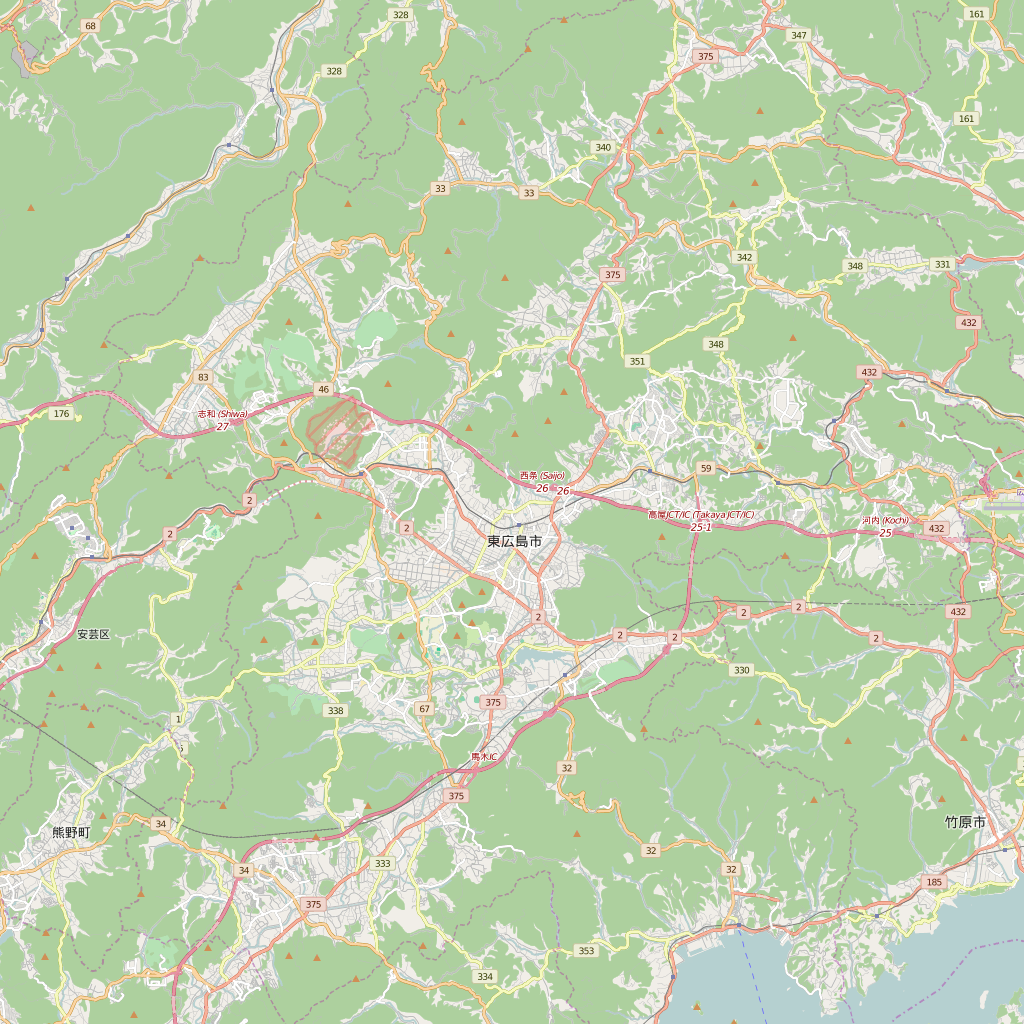 Editable City Map of Hiroshima
