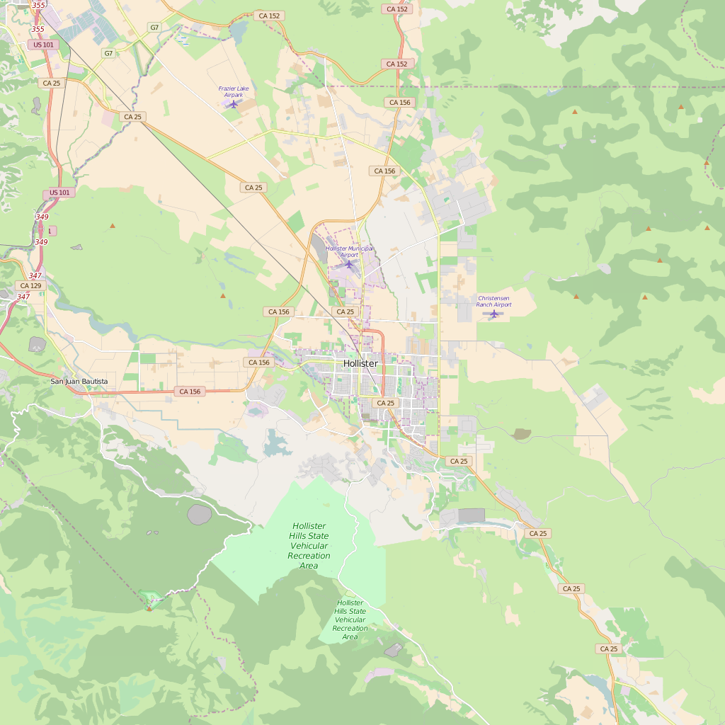 Editable City Map of Hollister, CA