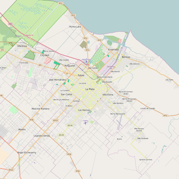 Editable City Map of La Plata