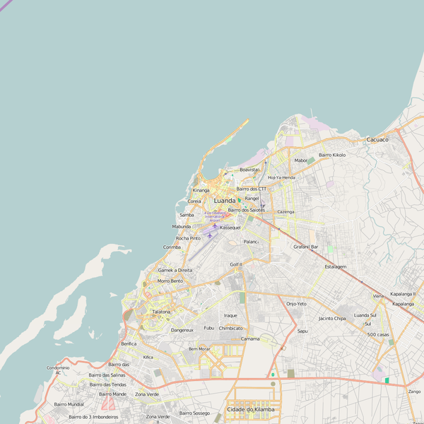 Editable City Map of Luanda