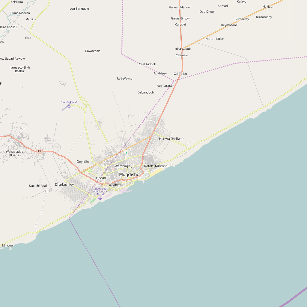 Editable City Map of Mogadishu