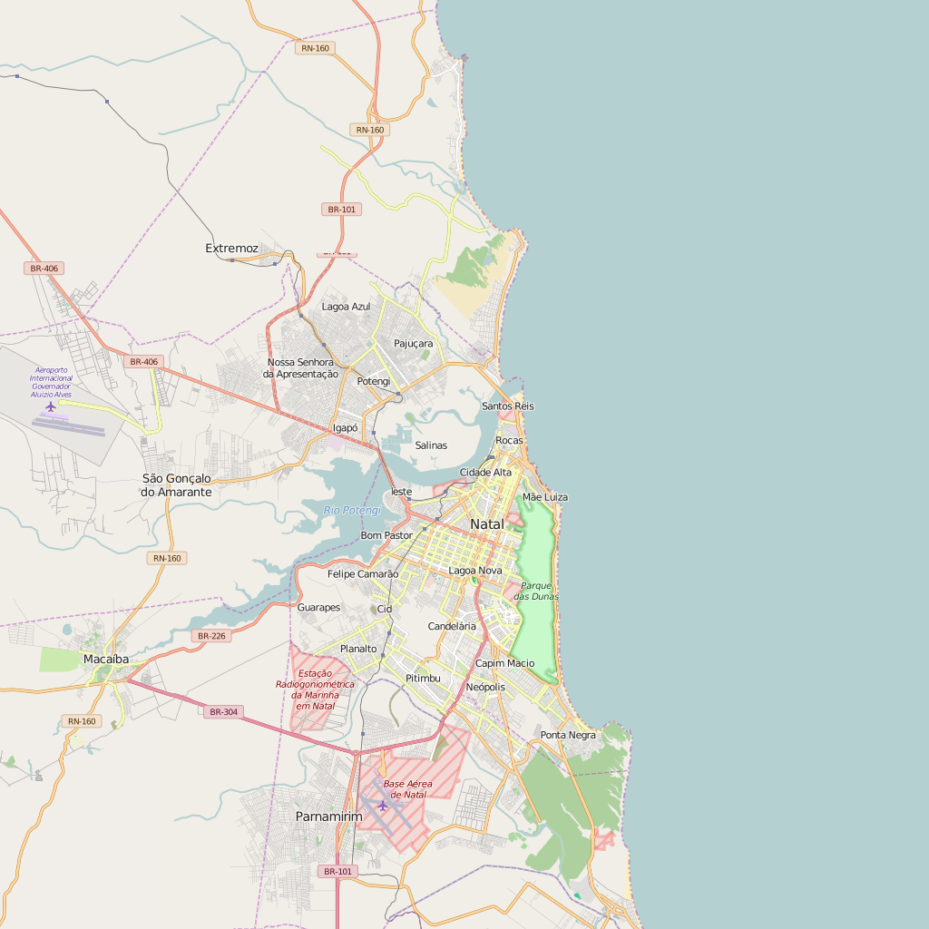 Editable City Map of Natal