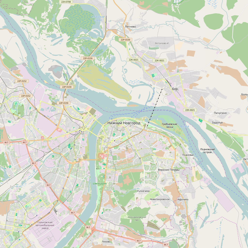 Editable City Map of Nizhniy Novgorod