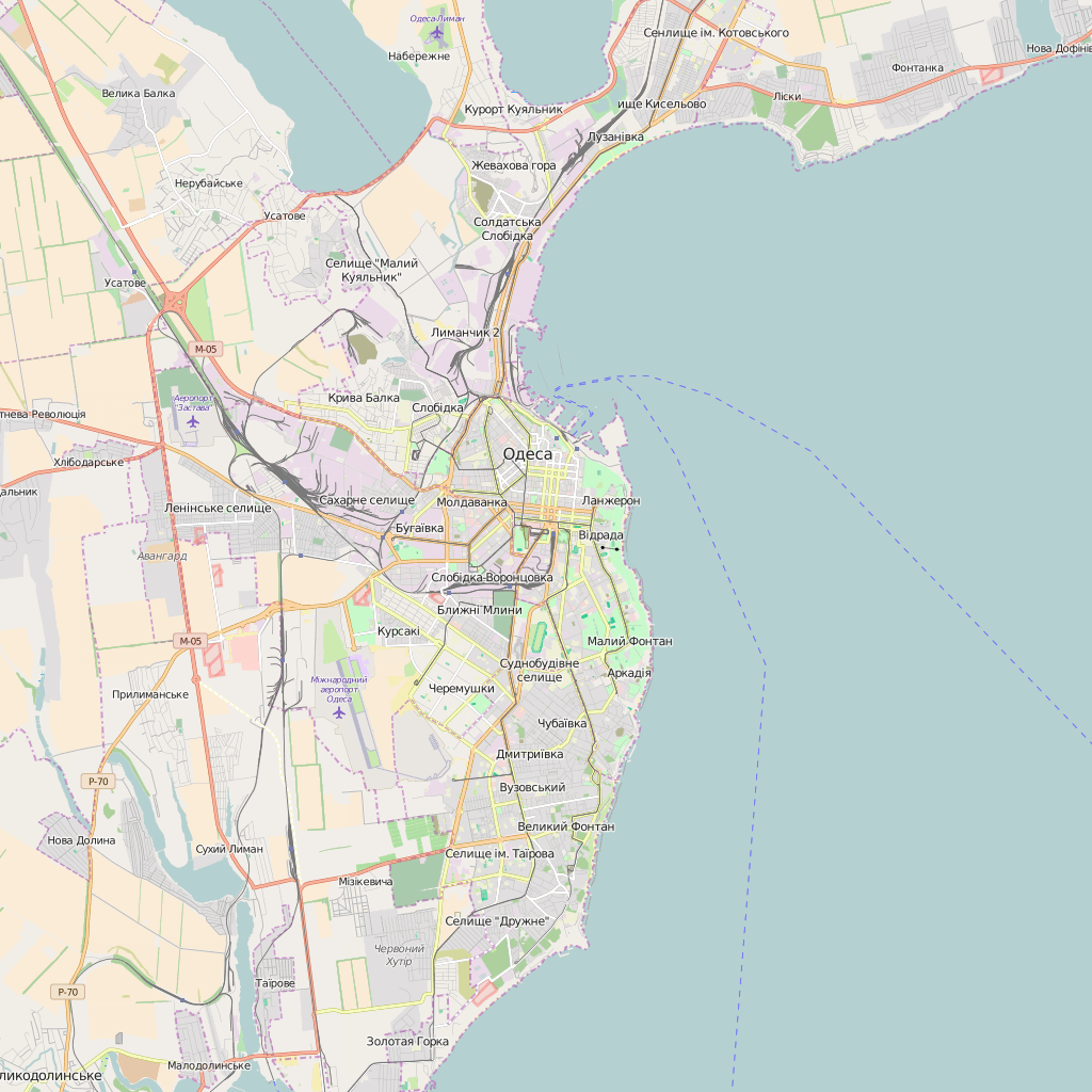Editable City Map of Odesa