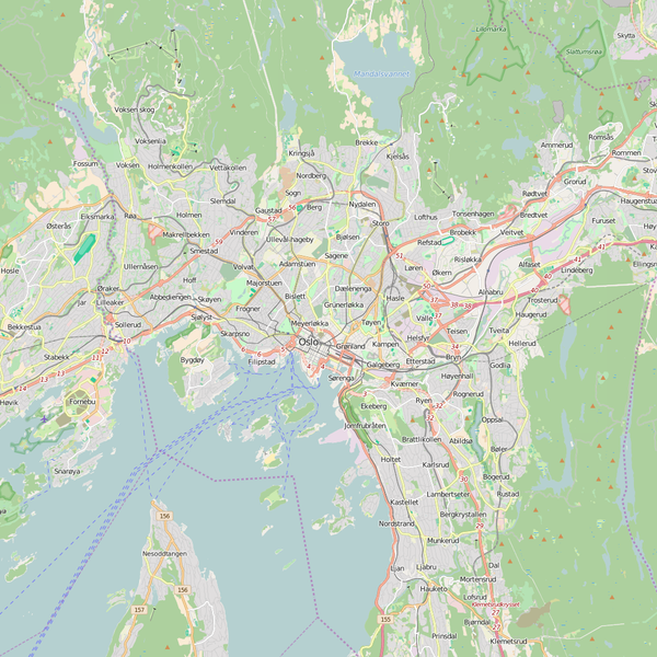 Editable City Map of Oslo