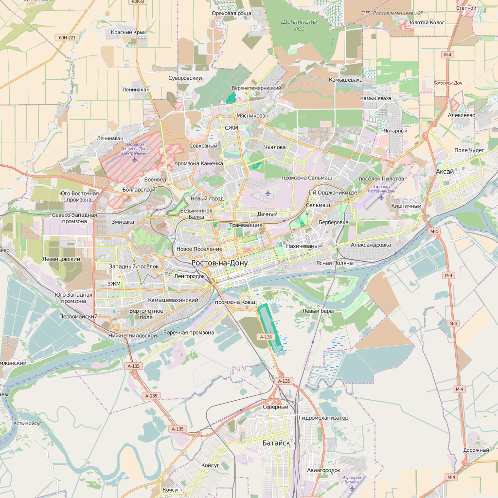 Editable City Map of Rostov-na-Donu