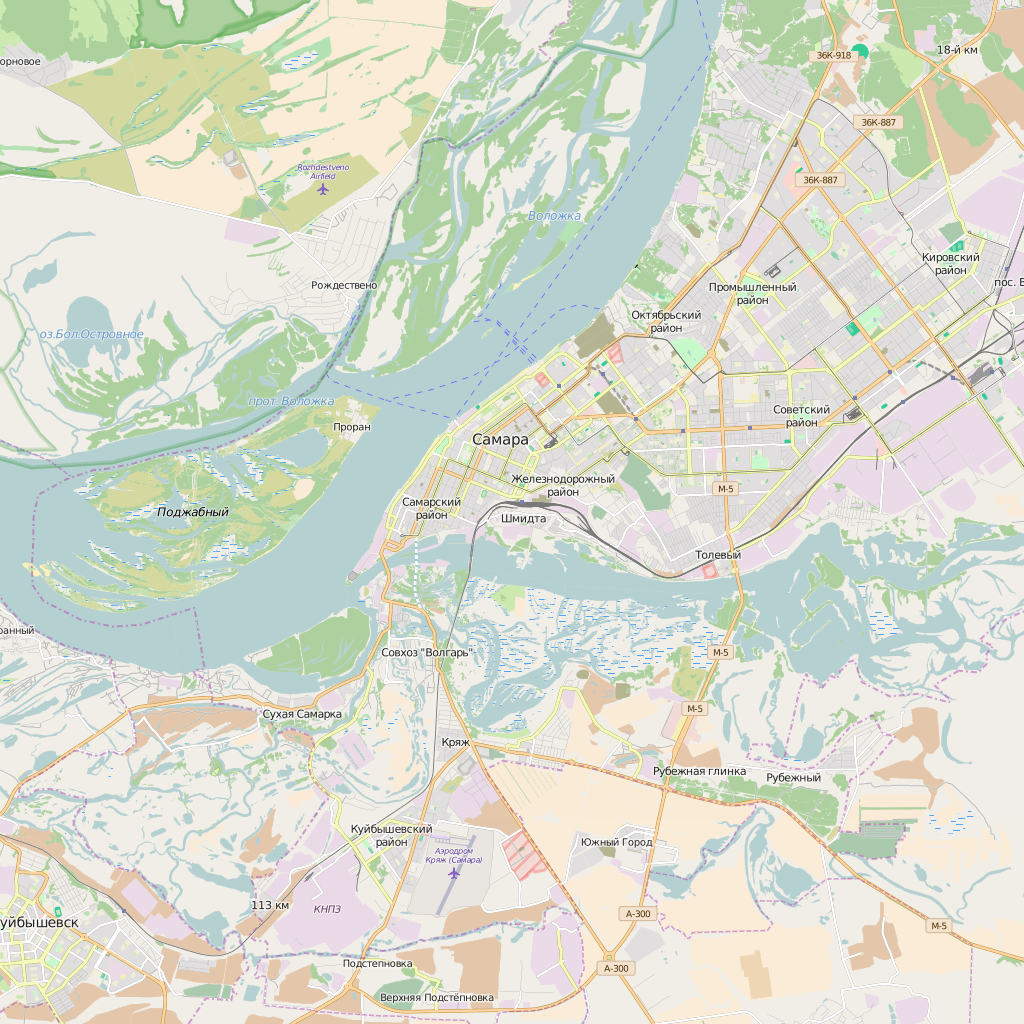 Editable City Map of Samara