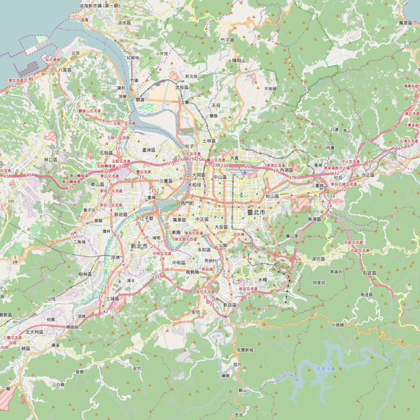 Editable City Map of Taipei
