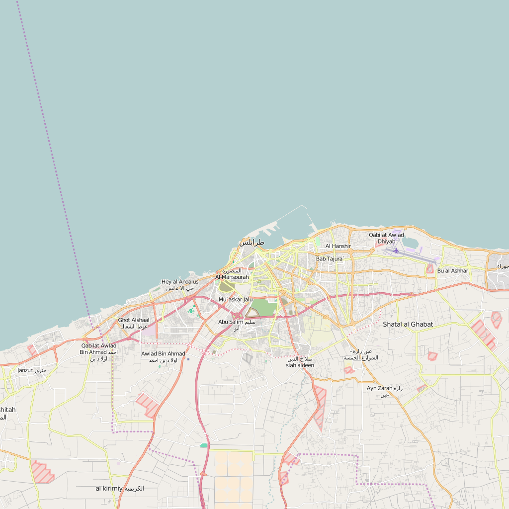 Editable City Map of Tripoli