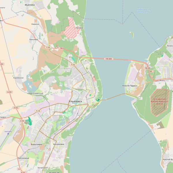 Editable City Map of Ulyanovsk