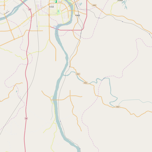 Editable City Map of Zhuzhou