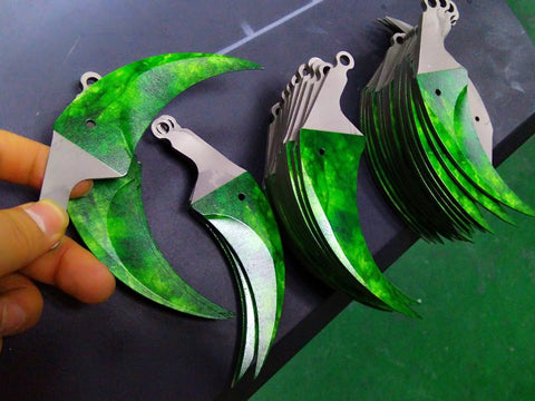 Karambit gravure blade skin production process ...