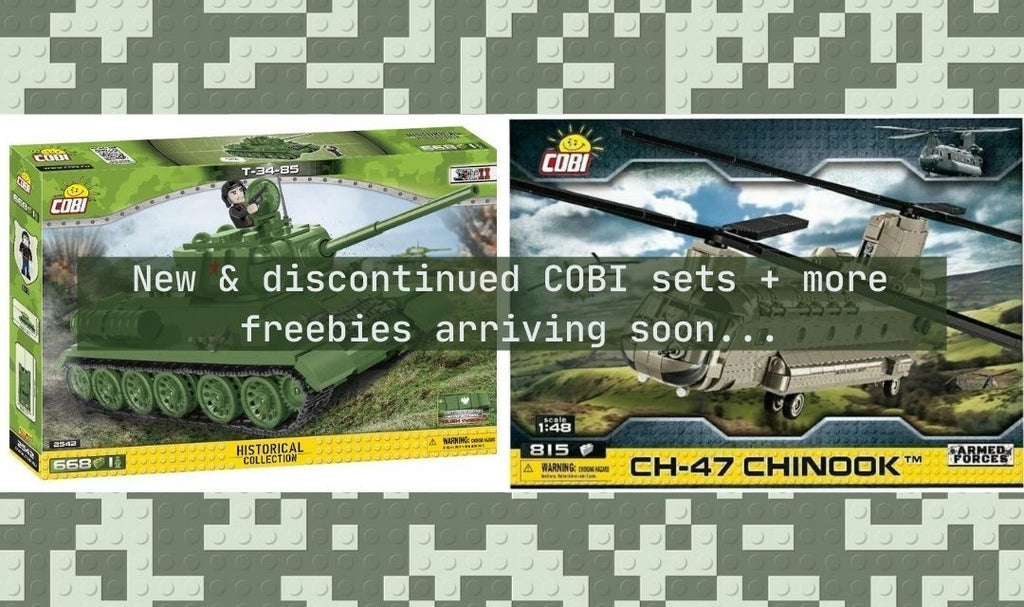 New & discontinued COBI sets + more freebies