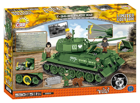 T34/85 RUDY 102 (Limited Edition) - Lego compatible COBI 2524 - 530 brick medium tank
