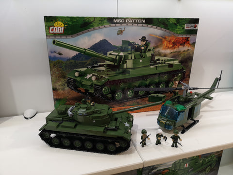 Cobi M60 Patton and Huey helicopter sets