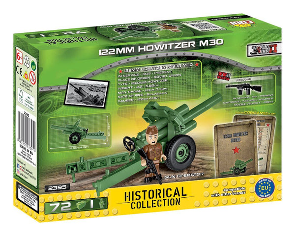 122mm Howitzer M1938 (M-30) - Lego compatible COBI 2395 - 72 brick artillery weapon - BRICKTANKS