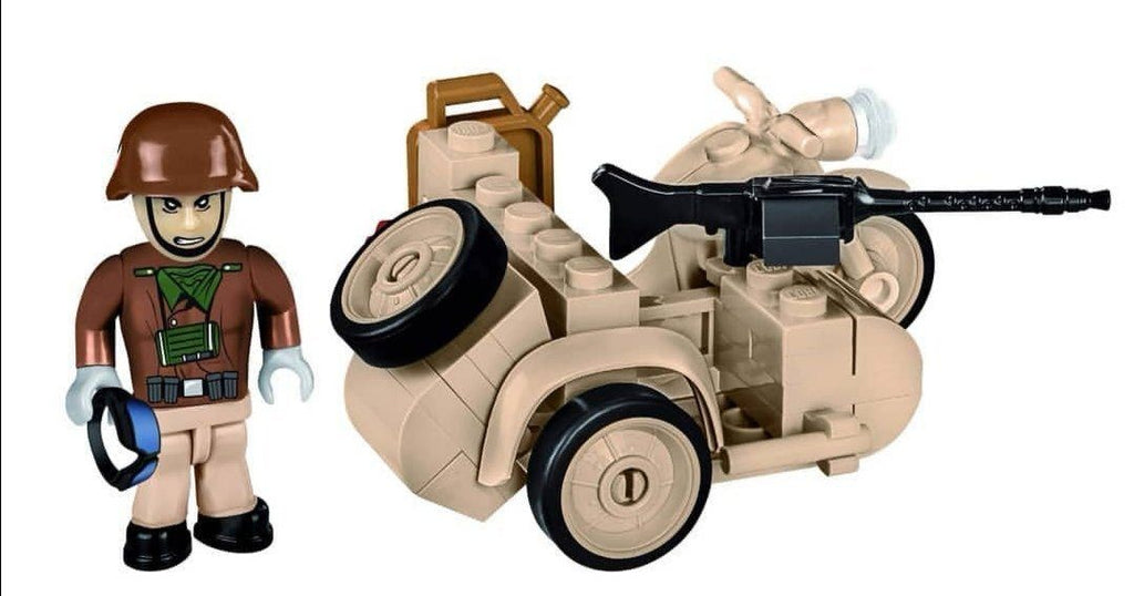 1942 BMW R75 (w/sidecar) - Lego compatible COBI 2397 - 50 brick army transport - BRICKTANKS