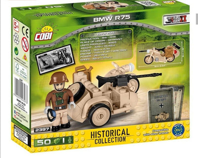 1942 BMW R75 (w/sidecar) - COBI 2397 - 50 brick army transport - BRICKTANKS