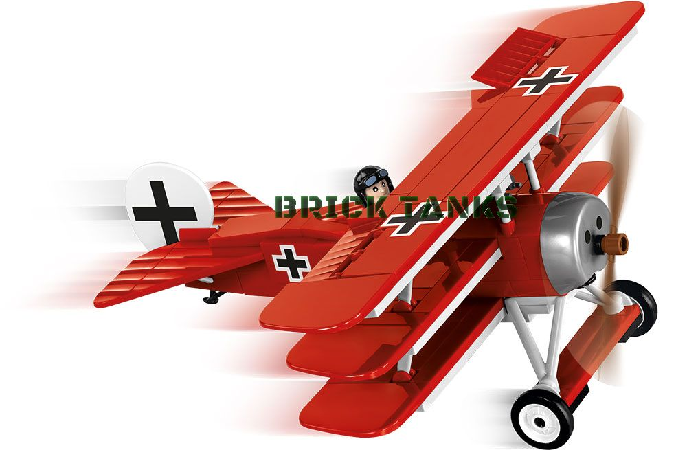 Fokker DR 1 - Lego compatible COBI 2974 - WWI 175 brick fighter aircraft - BRICKTANKS