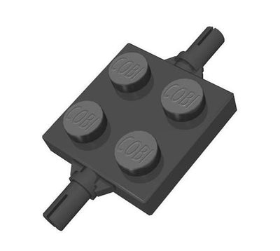 2x2 1/3 Chassis - Black - BRICKTANKS