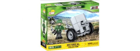 3.7 cm Pak 36 - Lego compatible COBI 2396 - 55 brick anti-tank gun - BRICKTANKS